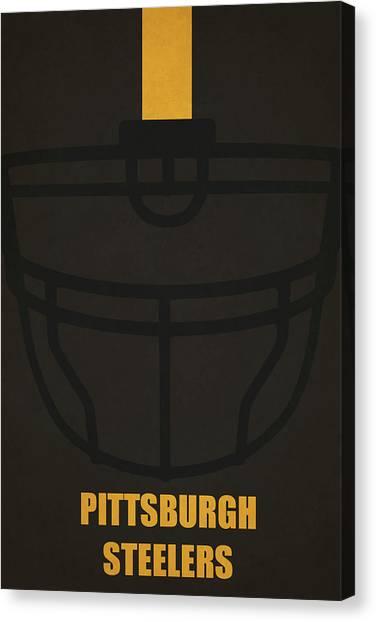 Superbowl Canvas Print - Pittsburgh Steelers Helmet Art by Joe Hamilton