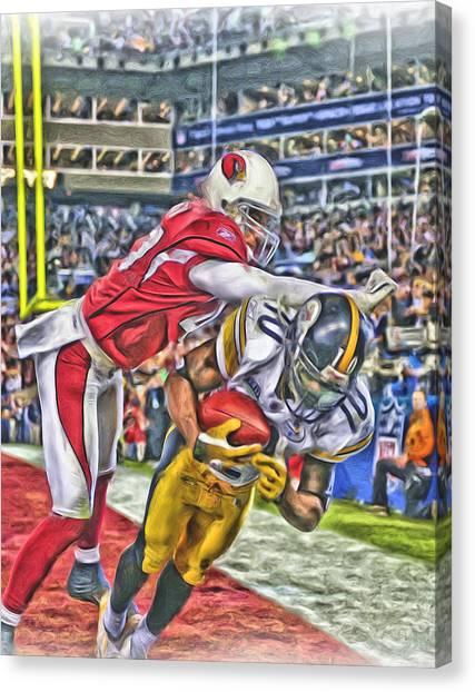 Pittsburgh Steelers Canvas Print - Pittsburgh Steelers Oil Art 1 by Joe Hamilton
