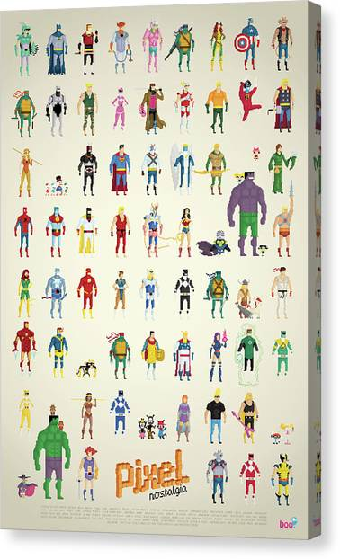 Street Fighter Canvas Print - Pixel Nostalgia by Anthony Barros