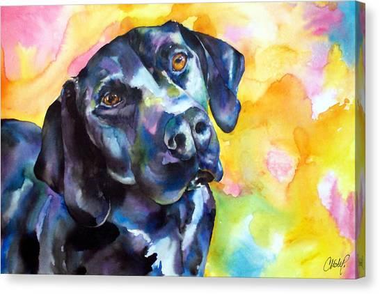 Pixie Dog - Black Lab Canvas Print