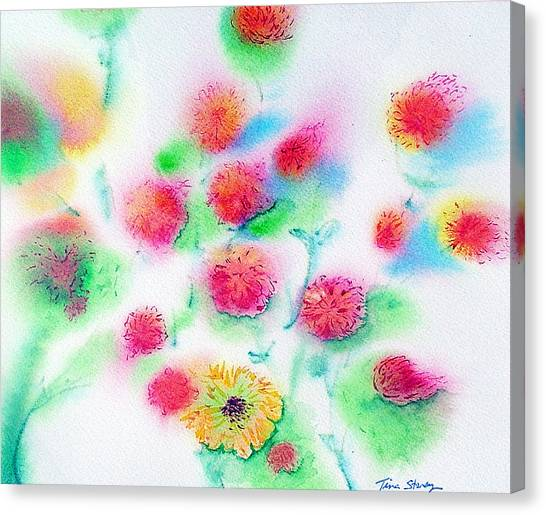 Pixie Flowers Canvas Print by Tina Storey