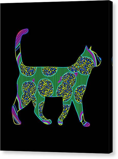 Ocicats Canvas Print - Pizza Cat 22 Colorful by Kaylin Watchorn