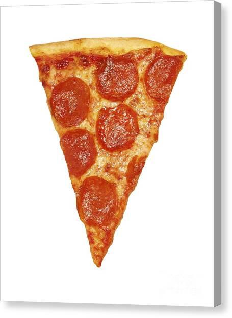 Pizza Canvas Print - Pizza Slice by Diane Diederich