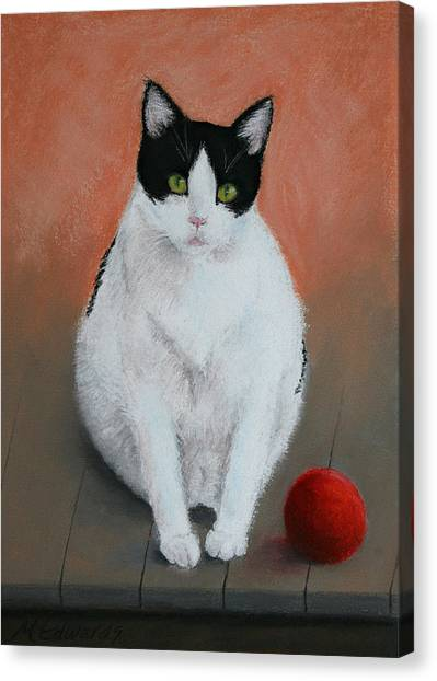 Pj And The Ball Canvas Print