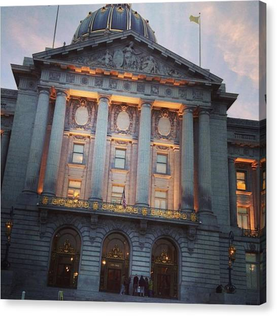 Wedding Canvas Print - City Hall by Nancy Ingersoll