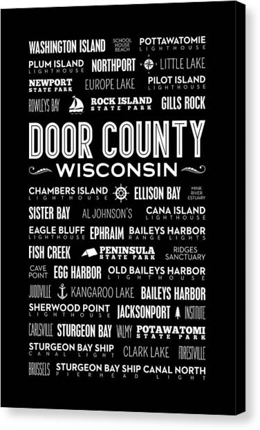 Kangaroo Canvas Print - Places Of Door County On Black by Christopher Arndt