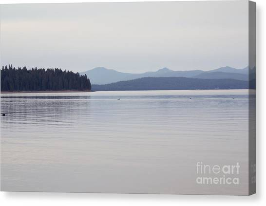Placid Mountain Lake Canvas Print