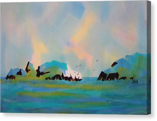 Plage De Pompierre Caribbean Canvas Print