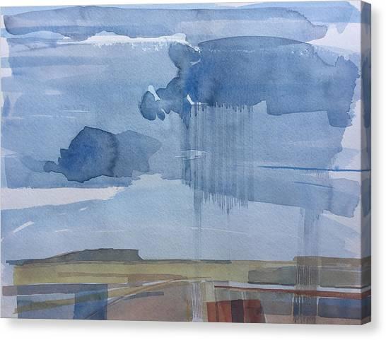 Plain Rain Canvas Print by Vaughan Davies
