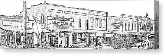 Plains Ga Downtown Canvas Print