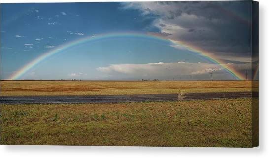 Plainview Rainbow Canvas Print