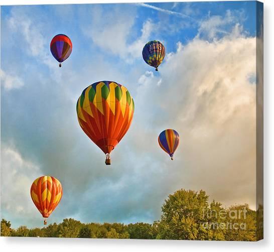 Plainville Balloons 2 Canvas Print