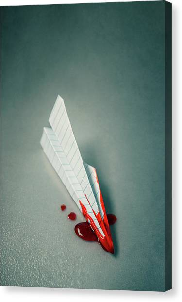 Paper Planes Canvas Print - Plane Crash 2 by Carlos Caetano