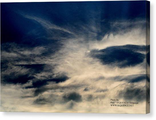 Plane In The Sky Canvas Print