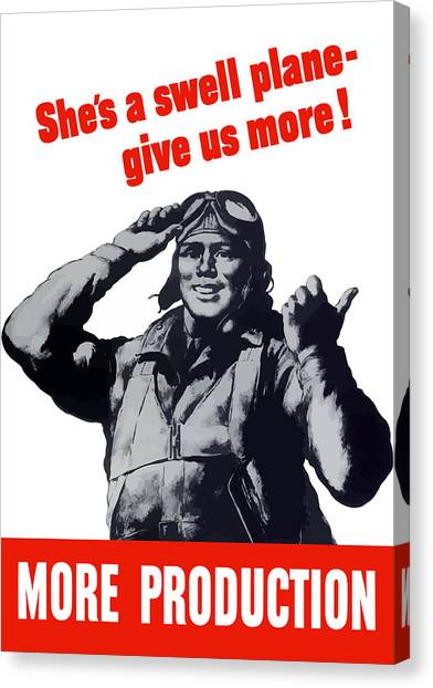 Air Force Canvas Print - Plane Production Give Us More by War Is Hell Store