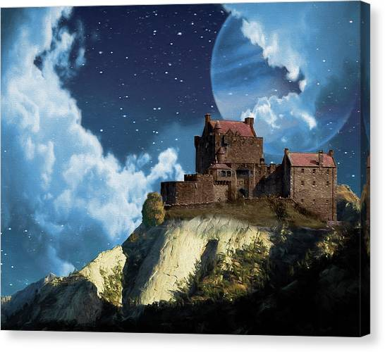 Planet Castle Canvas Print
