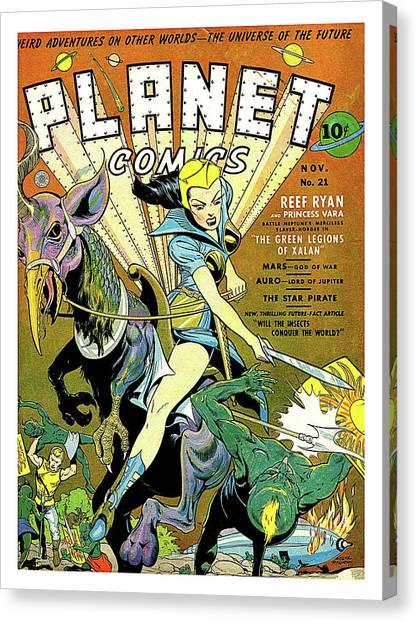 The Legion Canvas Print - Planet Comics, Green Legions Of Xalan by Long Shot