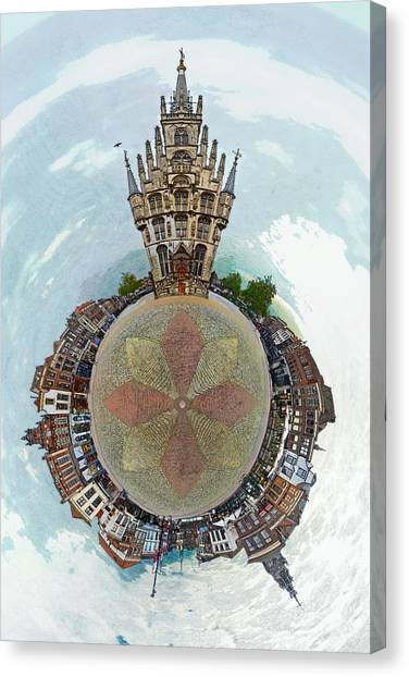 Planet Gouda Canvas Print