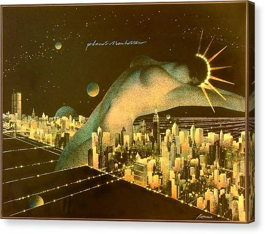 Planet Manhattan Canvas Print by Gary Kaemmer