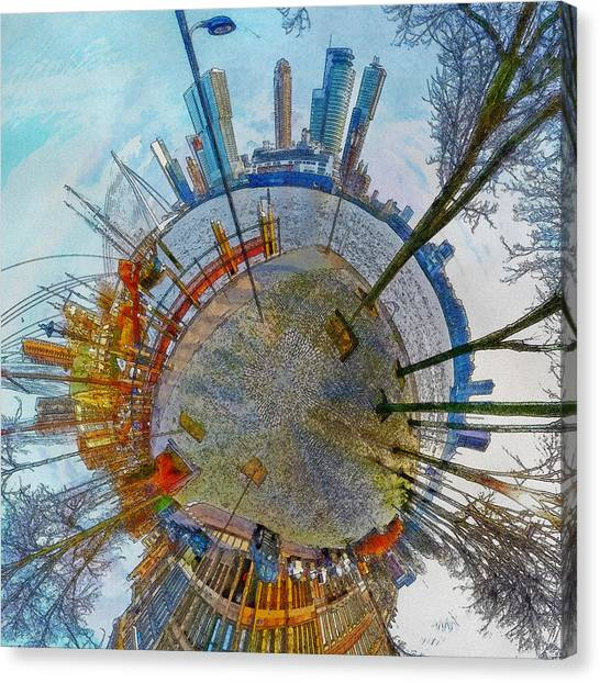 Planet Rotterdam Canvas Print