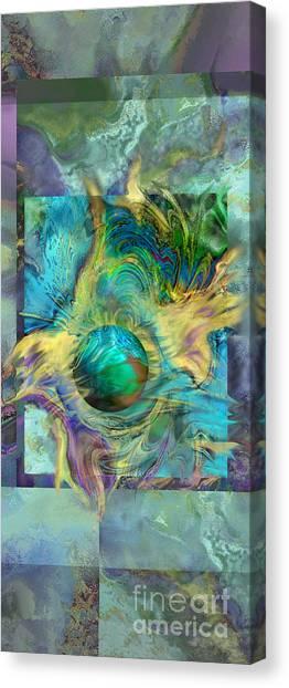 Planetary Collision 2 Canvas Print