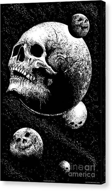 Planetary Decay Canvas Print