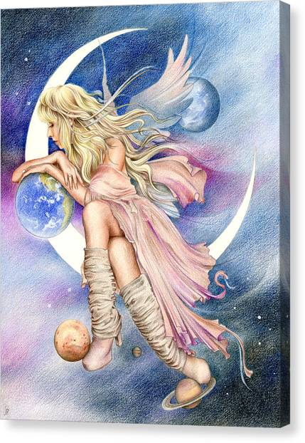 Stevie Nicks Canvas Print - Planets Of The Universe by Johanna Pieterman