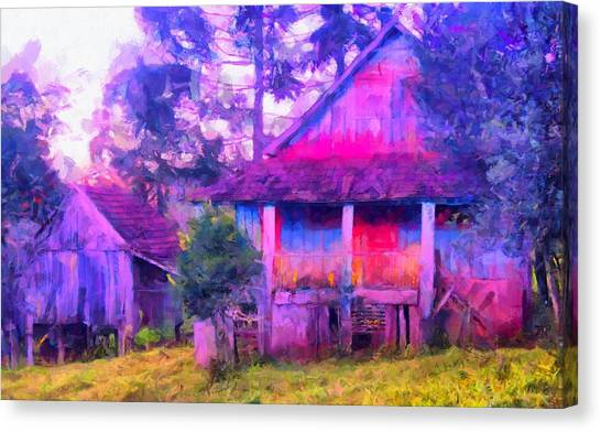 Plank Homes Canvas Print