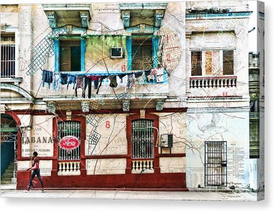 Plano De La Habana Canvas Print