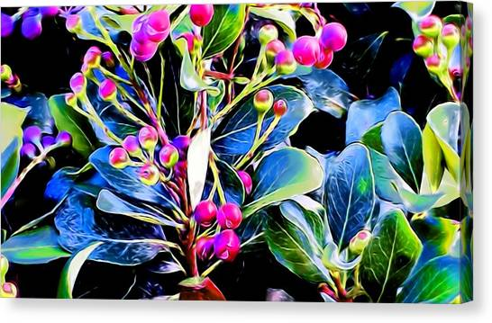 Plant 14 In Abstract Canvas Print