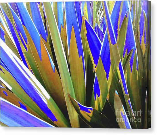 Plant Burst - Blue Canvas Print