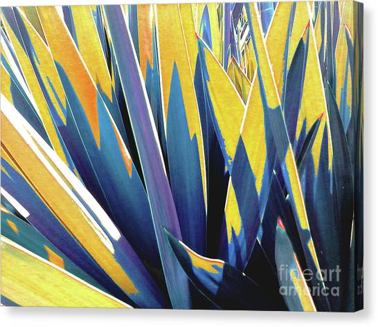Plant Burst - Yellow Canvas Print