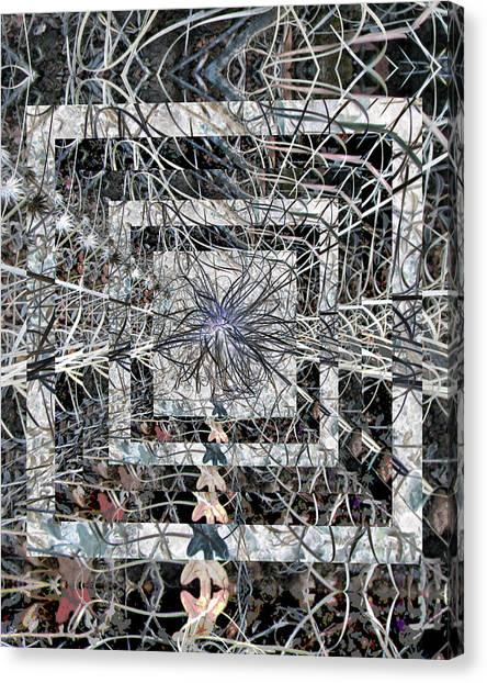 Plant Energy Kaleidoscope Canvas Print