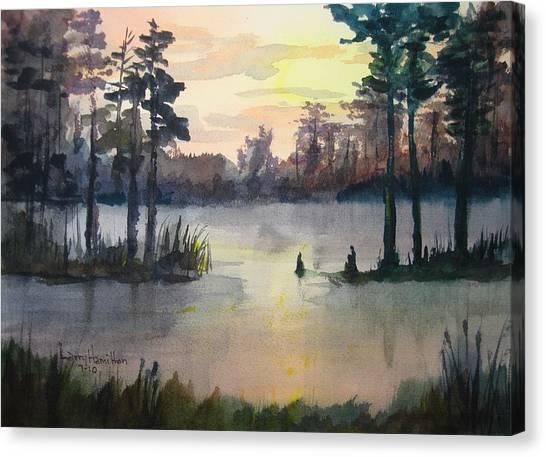 Plaquemines Parish Louisiana Sunset Canvas Print