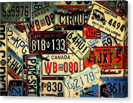 Plates Galore Canvas Print