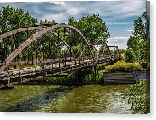 Platte River Bridge Canvas Print