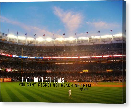 Play Ball Quote Canvas Print by JAMART Photography