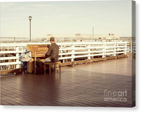 Pianos Canvas Print - Play Me, I'm Yours by Juli Scalzi