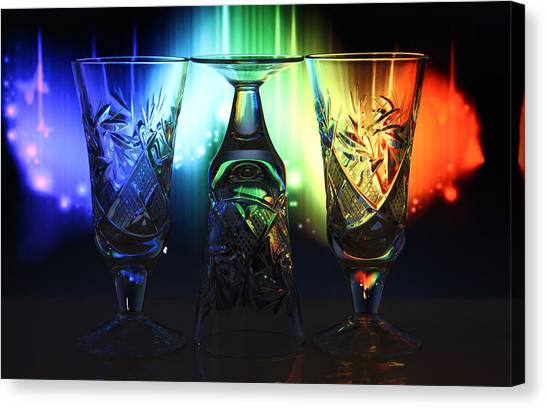 Play Of Glass And Colors Canvas Print