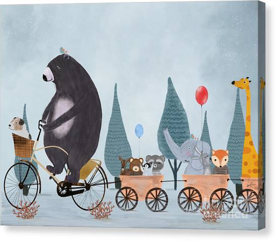 Rabbit Canvas Print - Play Time by Bri Buckley