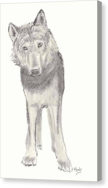 Play With Me Canvas Print by Mendy Pedersen