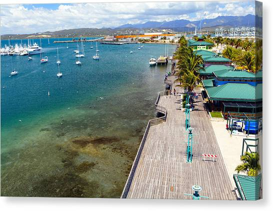 Boat Basin Canvas Print - Playa De Ponce by George Oze