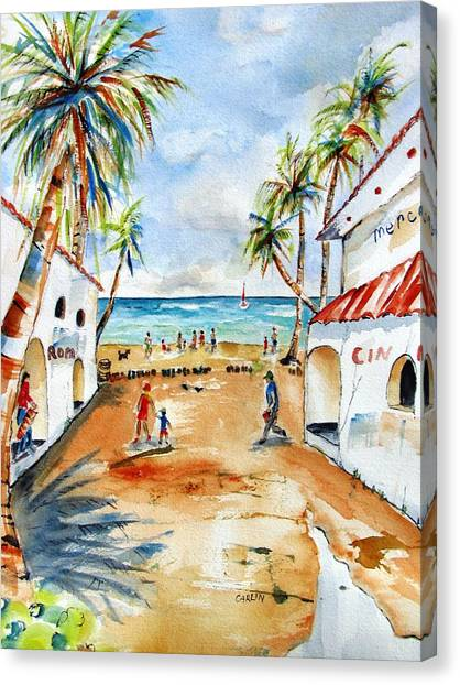 Playa Del Carmen Canvas Print