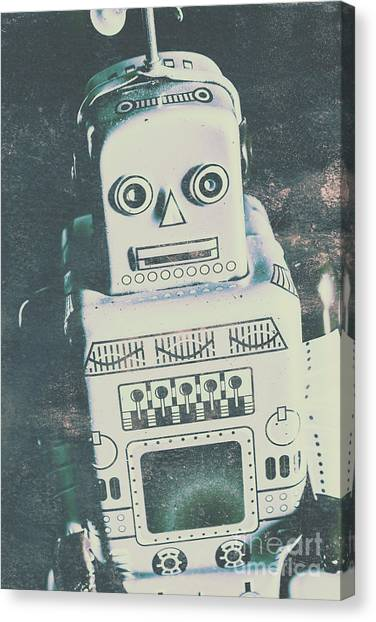 Repairs Canvas Print - Playback The Antique Robot by Jorgo Photography - Wall Art Gallery