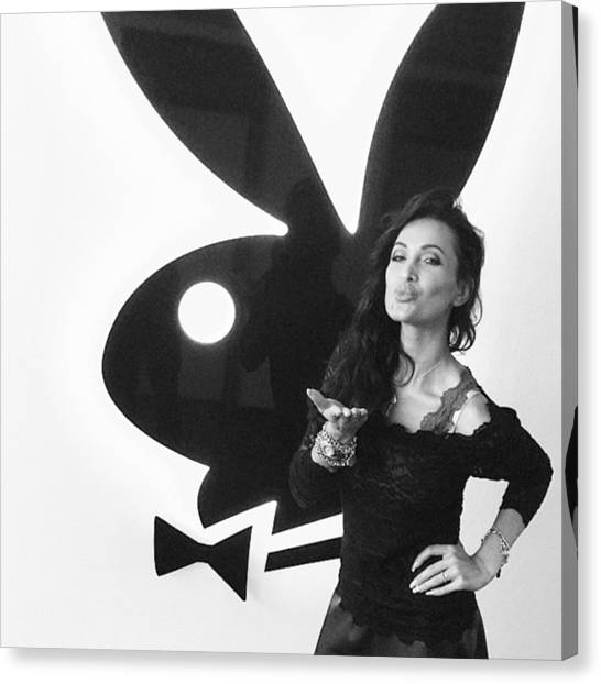 Erotic Canvas Print - #playboy #playmate #playboy_bunny #sexy by Yevgeniya Pechlaner
