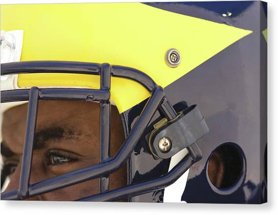 Player In Winged Helmet Canvas Print