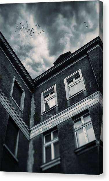 Old Houses Canvas Print - Playground by Art of Invi