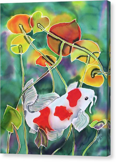 Playing Koi Canvas Print