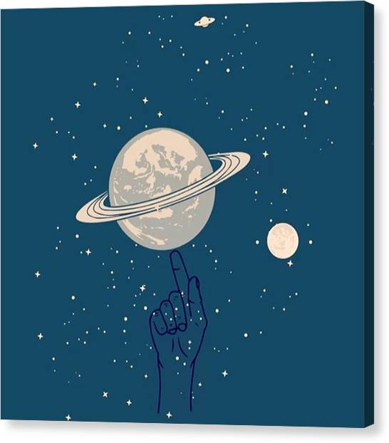 Saturn Canvas Print - Playing Planet #art #artwork #artworth by Dadi Setiadi