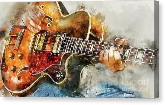 Mandolins Canvas Print - Playing The Blues by Jon Neidert